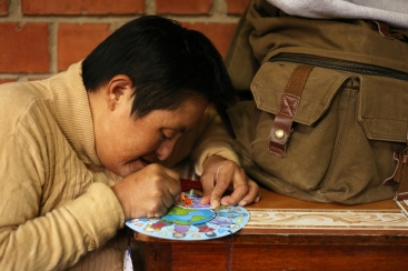 crafts with the ladies in a nearby shelter