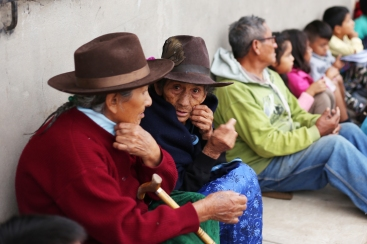 elderly women at Huaral's Bible study